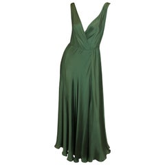 Ralph Lauren Collection Purple Label, Green Silk Gown