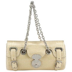 Ralph Lauren Collection Ricky Chain Barrel Bag Alligator Medium