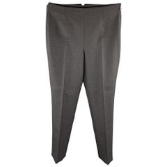 RALPH LAUREN COLLECTION Size 4 Grey Pleated Dress Pants