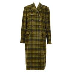 Ralph Lauren Collections vintage tartan plaid 100% cashmere coat