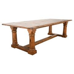 Ralph Lauren Country Pine Trestle Table, 20th Century