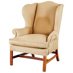 Ralph Lauren Devonshire Cigar Leather Wingback Chair