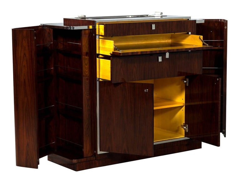 Modern Ralph Lauren Duke Bar Cabinet For Sale