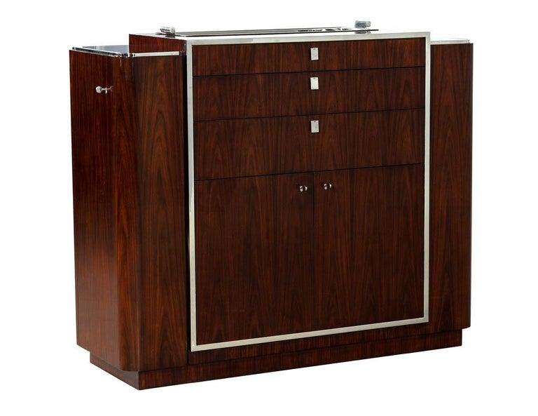 American Ralph Lauren Duke Bar Cabinet For Sale