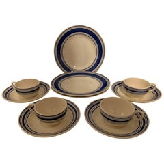 Ralph Lauren Farmstead Ticking Dinnerware Set - 12 pieces
