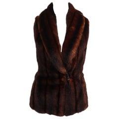 Ralph Lauren Faux Fur Waistcoat Vest
