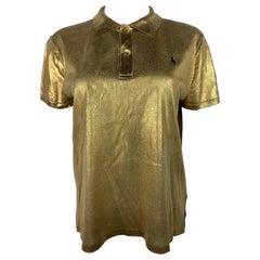 Ralph Lauren Gold Polo Shirt, Size Large