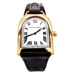 Ralph Lauren Gold Stirrup Watch