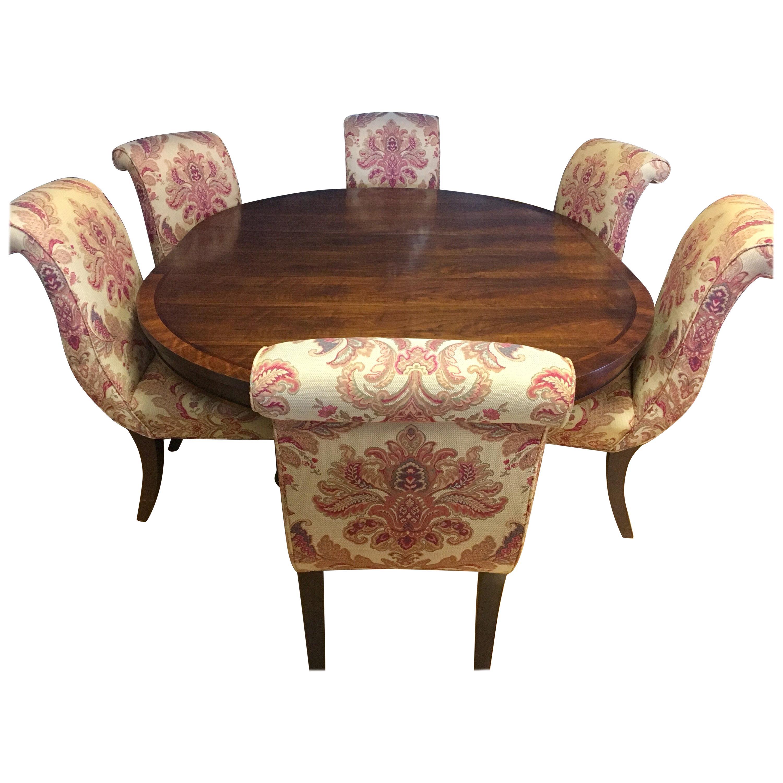 Ralph Lauren Henredon Dining Room Set Table and Six ...