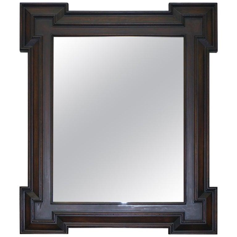 ralph lauren henredon large wall mirror antiqued distressed glass for sale at 1stdibs. Black Bedroom Furniture Sets. Home Design Ideas