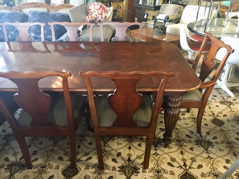 Ralph Lauren Henredon Mahogany Dining Room Set Table And Eight Chairs At 1stdibs