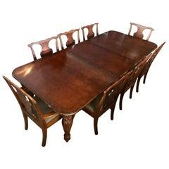 Ralph Lauren Henredon Mahogany Dining Room Set Table and Eight Chairs