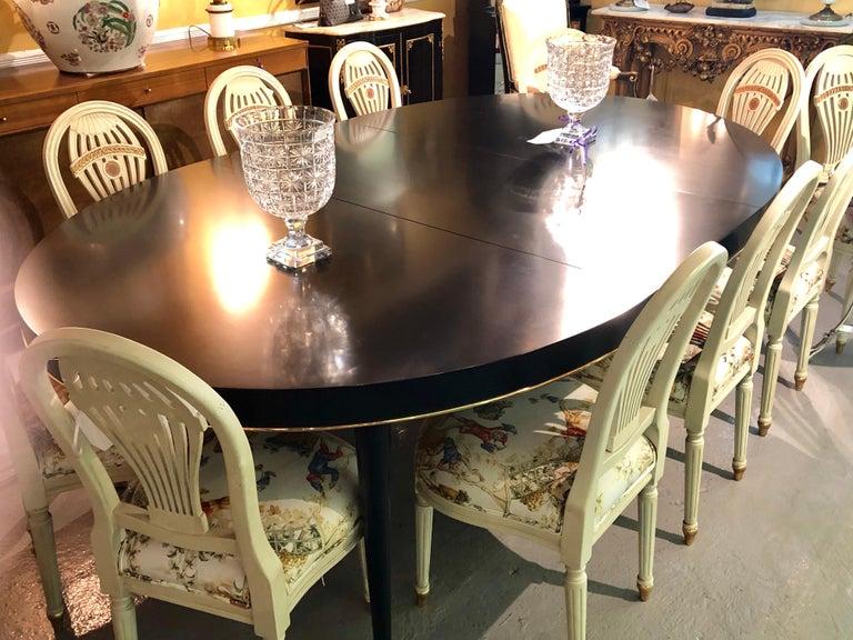 Ralph Lauren Hollywood Regency Style Ebony Dining Table,