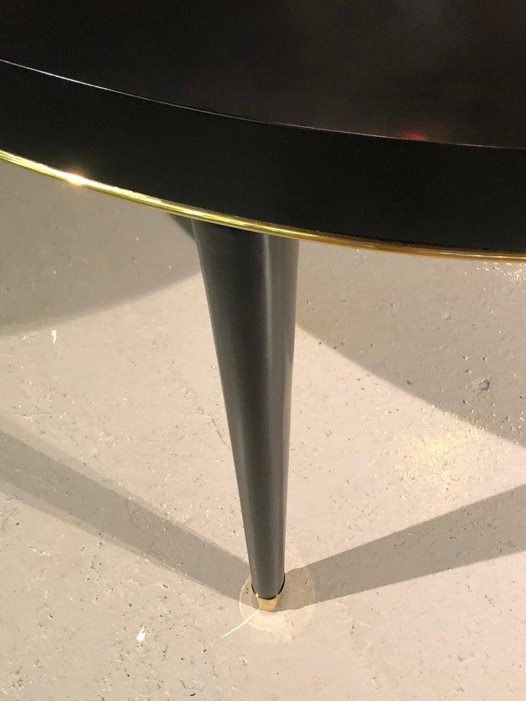 20th Century Ralph Lauren Hollywood Regency Style Ebony Dining Table,