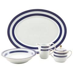 Ralph Lauren Home 4-Piece Serving Set in Spectator Blue Pattern