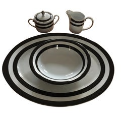 Ralph Lauren Home 4-Piece Serving Set in Spectator Black Pattern