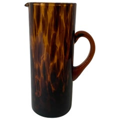 Ralph Lauren Kendrick Tortoiseshell Glass Pitcher