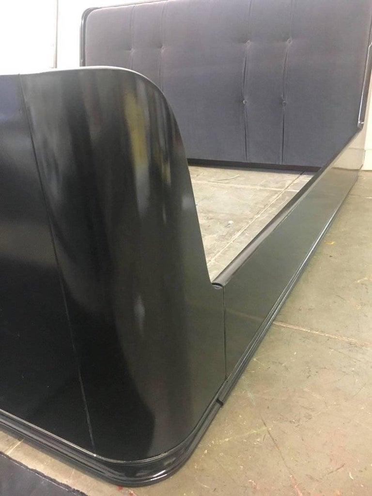 20th Century Ralph Lauren King Bed in Macassar Ebony For Sale