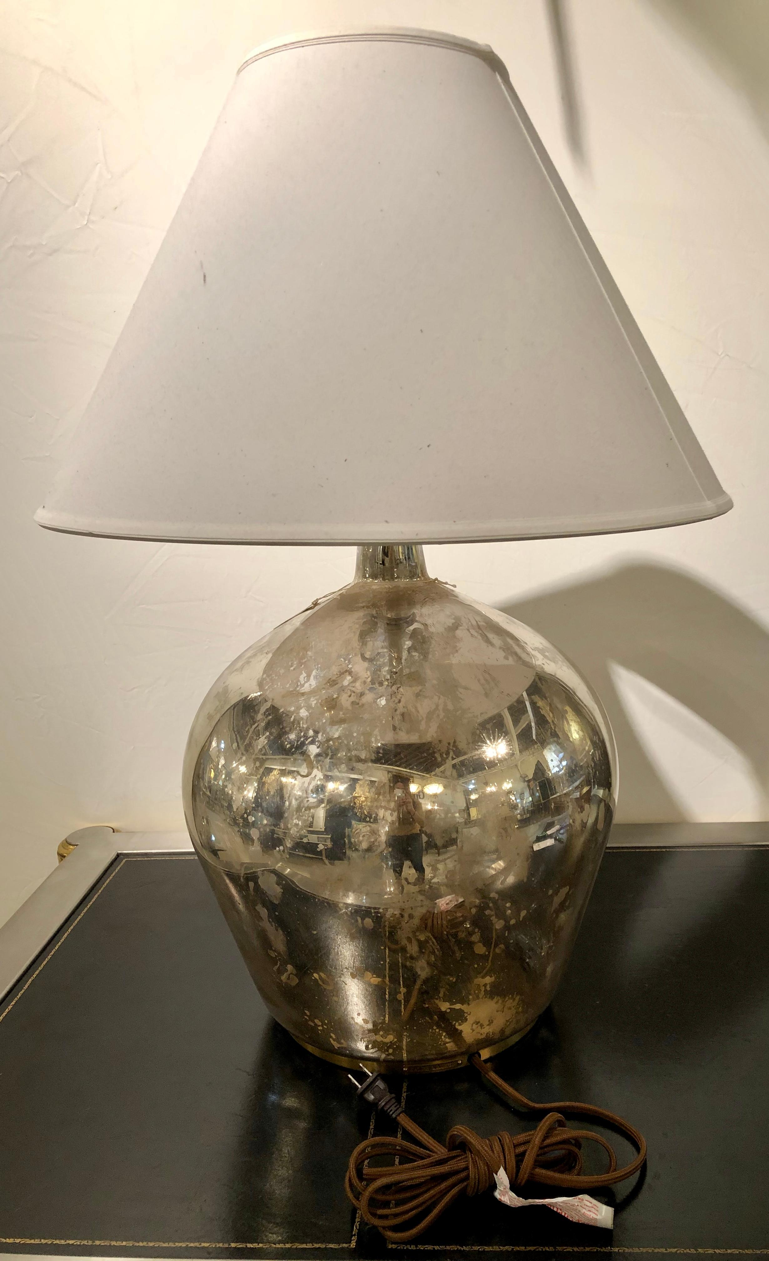 Image of: Ralph Lauren Large Mercury Glass Table Lamp At 1stdibs