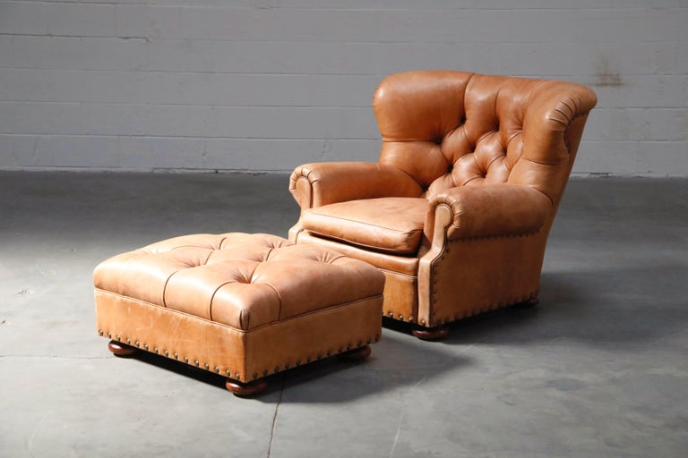 Modern Ralph Lauren Leather and Mahogany