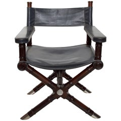 Ralph Lauren Leather Hollywood Director's Chair in Classic Royal Navy Blue