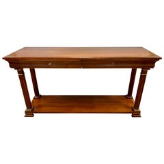 Ralph Lauren Mahogany Two-Drawer Console Table
