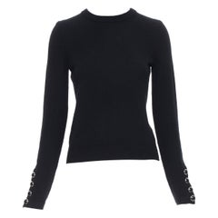 RALPH LAUREN multicolor striped viscose boat neck long sleeve sweater top XS