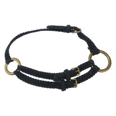 Ralph Lauren Nautical Rope & Brass Ring Belt