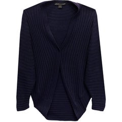 Ralph Lauren Navy Cashmere Cacoon Sweater Sz L