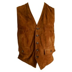 "RALPH LAUREN ""New"" Brown Suede Vest Gilet - Unworn"