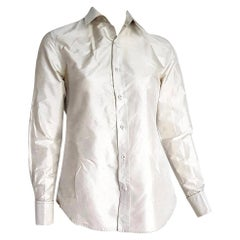 "Ralph LAUREN ""New"" Pearl Gray Silk Shirt - Unworn"
