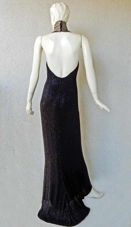 Ralph Lauren NWT Rare Runway Art Deco Beaded Dress Gown For Sale 3