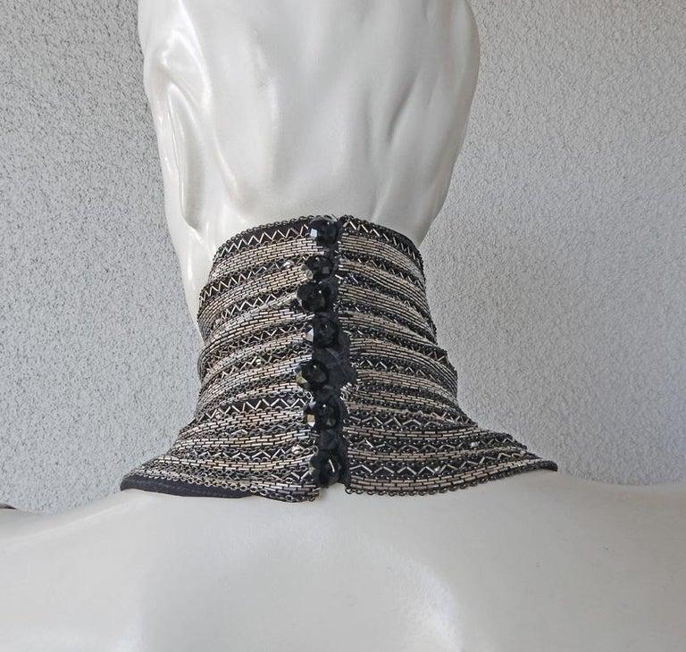 Ralph Lauren NWT Rare Runway Art Deco Beaded Dress Gown For Sale 4