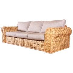 Ralph Lauren Organic Modern Woven Rattan Sofa