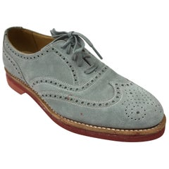 Ralph Lauren Pale Blue Suede Oxfords - 6.5