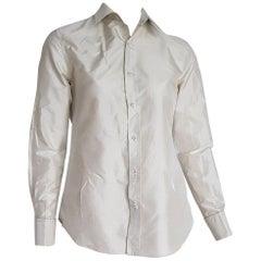 Ralph LAUREN pearl grey silk shirt - Unworn, New