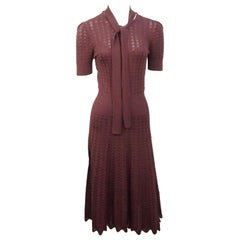 Ralph Lauren Purple Label Burgundy Silk Knit Dress - XS - NWT