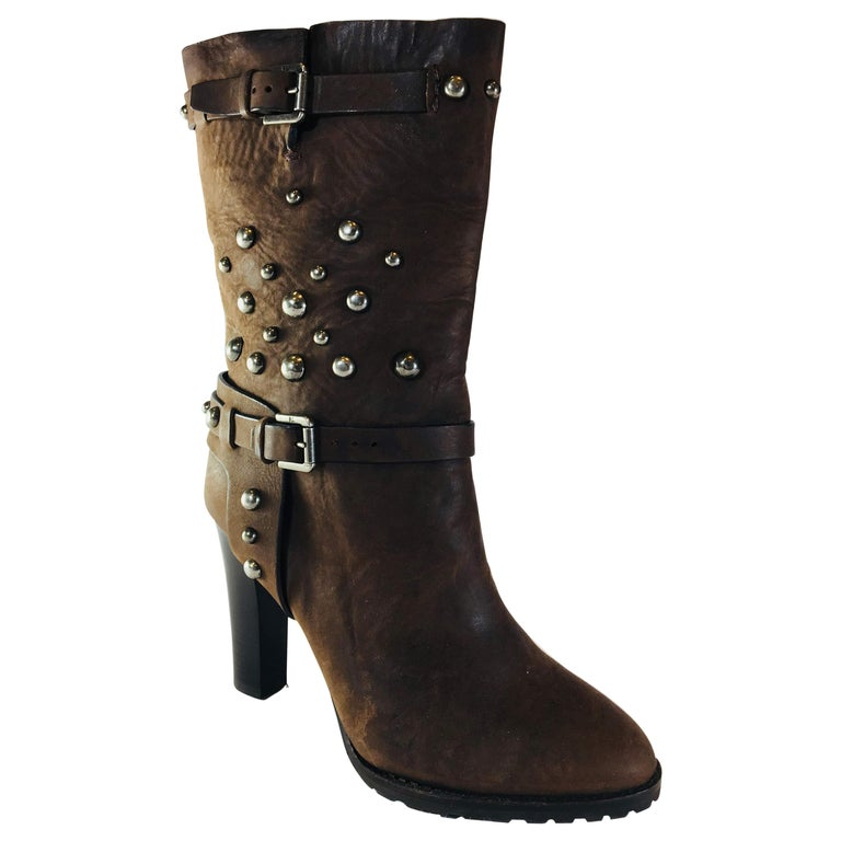 Ralph Lauren Purple Label Mid Calf Boots  For Sale
