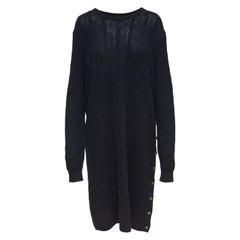Ralph Lauren Purple Label Navy Cashmere Sweater Dress