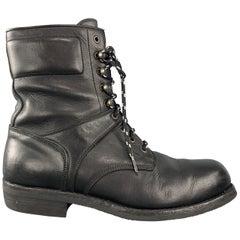 RALPH LAUREN Purple Label Size 12 Black Leather Lace Up Work Boots