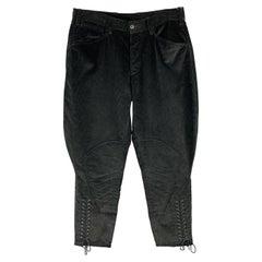 RALPH LAUREN Purple Label Size 30 Black Corduroy Breeches Jodhpur Pants