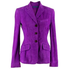 Ralph Lauren Purple Suede Jacket - Size US 2