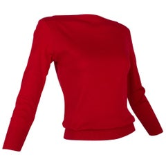 Ralph Lauren Red Boat Neck ¾ Sleeve Pullover, Original Tags – S, 21st Century