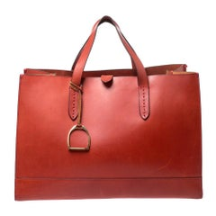 Ralph Lauren Red Leather Proprietor Tote