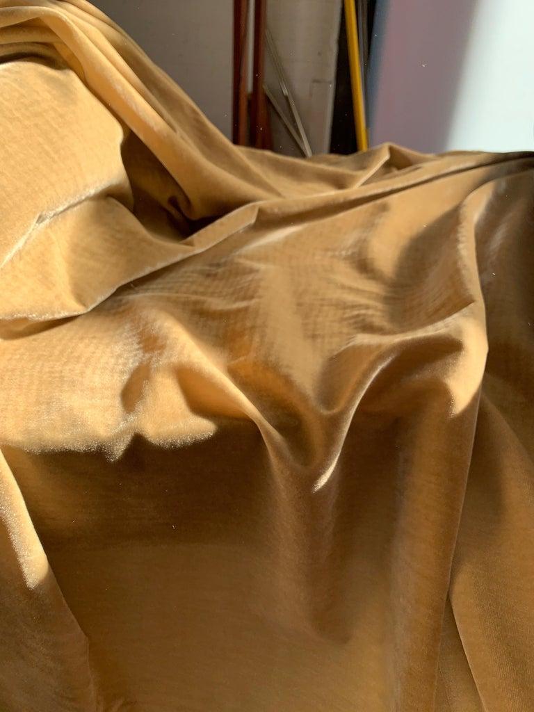 Italian Ralph Lauren Royal Silk Velvet, Golden Tan, Cream Beige, Made in Italy For Sale