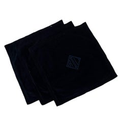 Ralph Lauren Set of 3 Navy Cotton Velvet 50 x 50 Cushion Covers
