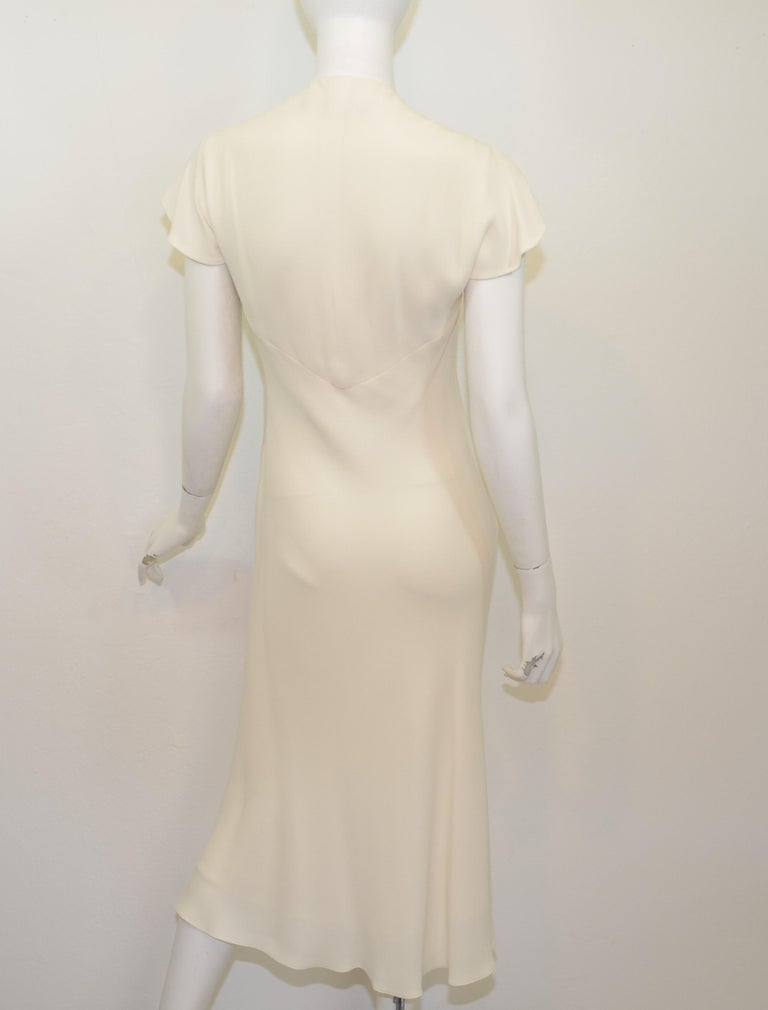 Ralph Lauren Silk Bias Cut Gown Minimalist Dress At 1stdibs