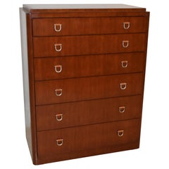 Ralph Lauren Six-Drawer Tall Chest / Dresser Leather and Nickel Hardware