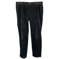 RALPH LAUREN Size 36 Black Zip Fly Corduroy Casual Pants