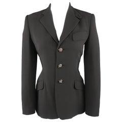 RALPH LAUREN Size 6 Black Equestrian Sport Coat Jacket